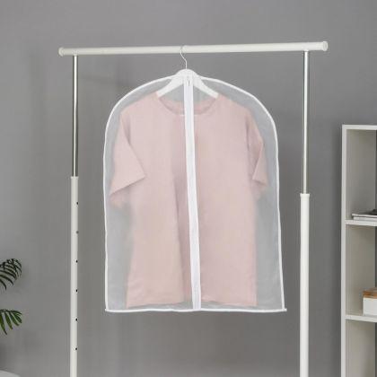 Чехол для одежды плотный, белый, 80 x 60 см