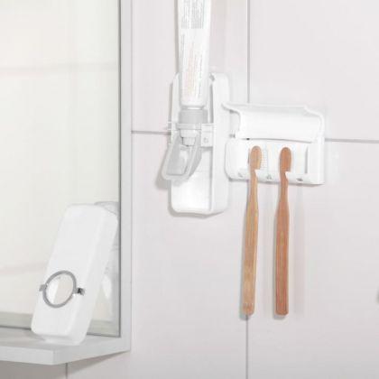 Держатель для зубных щеток и выдавливатель для зубной пасты, 16 x 10,5 х 7,5 см
