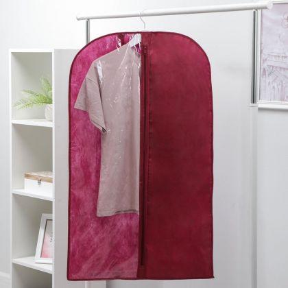 Чехол для одежды, бордо, 100 х 60 см