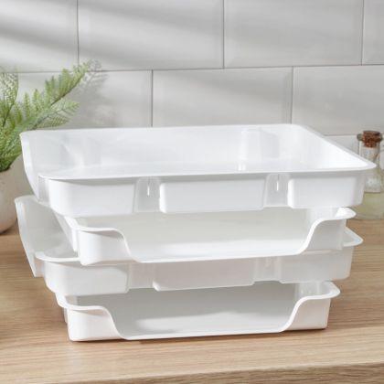 Лоток для заморозки продуктов 4 шт, 29 х 34 х 4,5 см