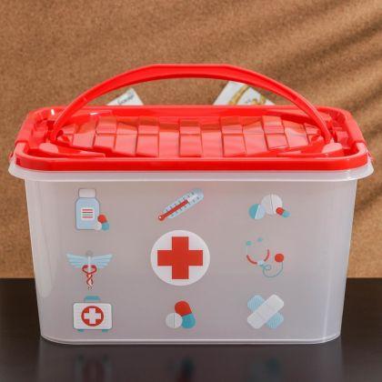 """Аптечка для хранения медикаментов """"Доктор"""", 15 л, 39 х 26,5 х 21 см"""