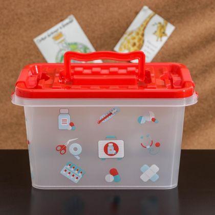 Аптечка для хранения медикаментов «Doctor», 4 л, 26 х 17 х 14 см