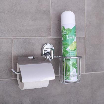 """Держатель для туалетной бумаги и освежителя воздуха """"Comfort"""", 25 х 12,5 х 15 см"""