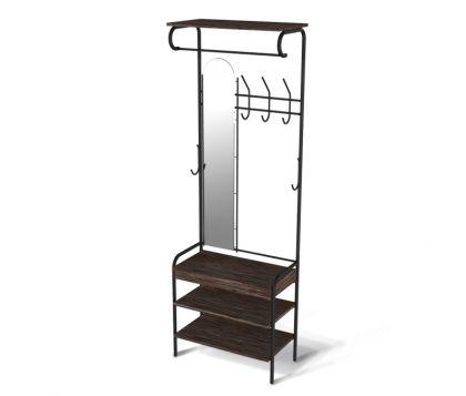 Компакт гардеробная модель 2, черный, 64 x 31 x 188,5 см
