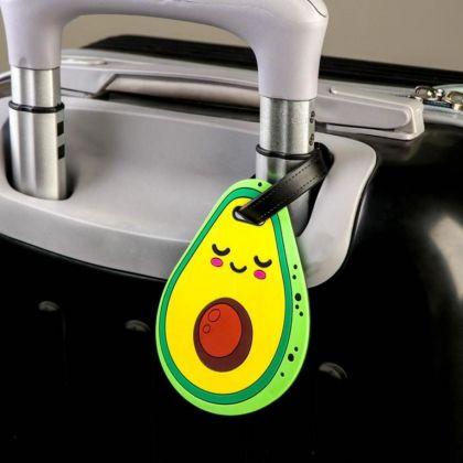 Бирка для чемодана «Avocado», 7,9 x 0,4 x 11,8 см