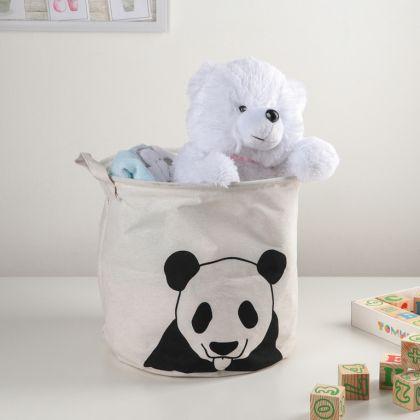 Корзина для белья «Panda», белый, 30 х 30 х 30 см