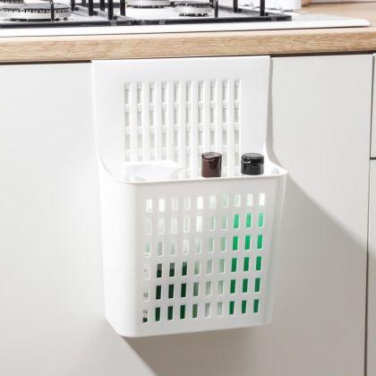 Корзина для хранения подвесная, белый, 25 x 13 x 36 см