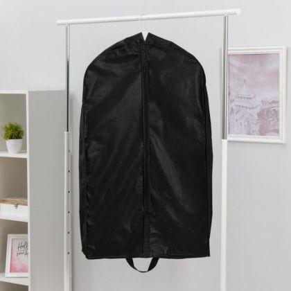Чехол для одежды зимний, черный, 100 x 60 x 10 см