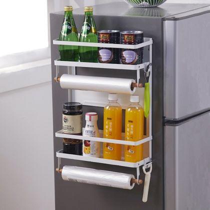 Кухонная стойка-органайзер магнитный, белый, 30,8 x 11,2 x 40,4 см