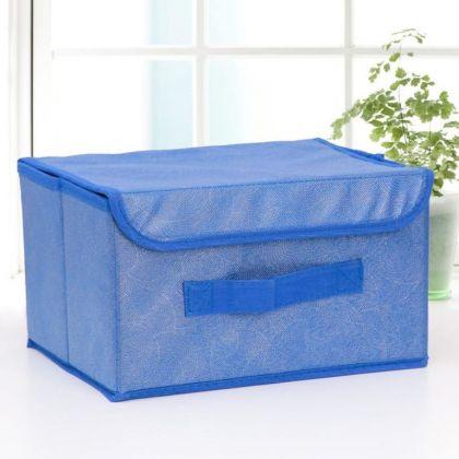 Короб для хранения с крышкой «Fabjen», синий, 26 x 20 x 16 см