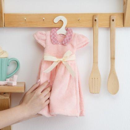 Полотенце кухонное «Lovely dress», розовый, 30 x 25 см