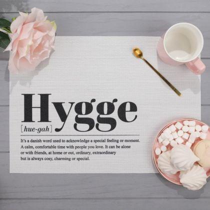 Салфетка на стол «Хюгге», ПВХ, белый, 40 х 29 см