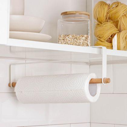 Держатель для полотенец подвесной, белый, 30,5 x 2 x 10 см