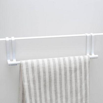 Держатель для полотенец на дверцу, белый, 27,5 х 6 х 9 см