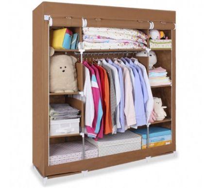 Тканевый шкаф Маджорити, коричневый