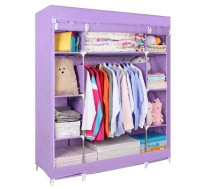 Тканевый шкаф Маджорити, фиолетовый
