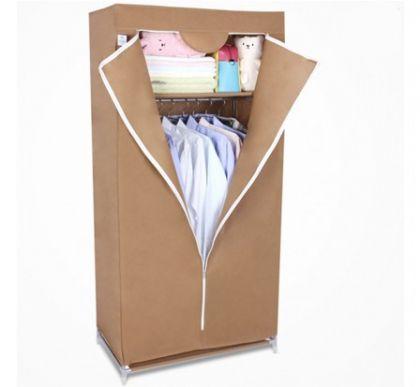 Тканевый шкаф Кармэн, коричневый