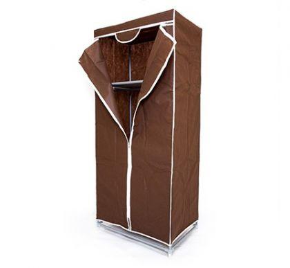 Тканевый шкаф Кармэн, шоколадный