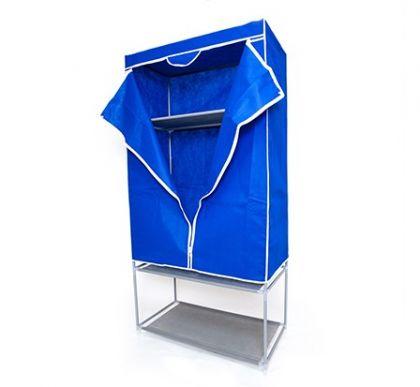 Тканевый шкаф с полкой для обуви, синий
