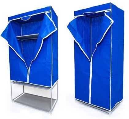 Комплект тканевых шкафов для одежды и обуви, синий