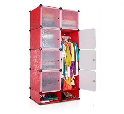 Кубический шкаф Кармен, красный