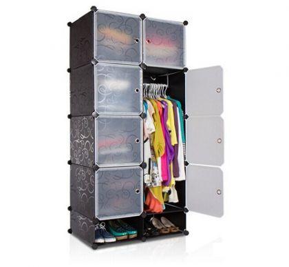 Кубический шкаф Кармен, черный