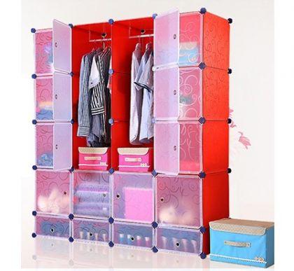 Кубический шкаф Маджорити, красный