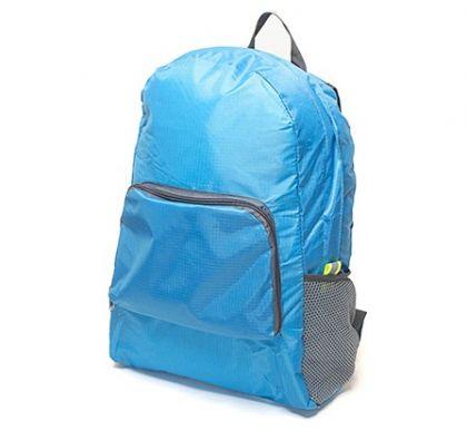 Рюкзак складной в дорогу, голубой