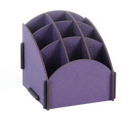 Органайзер на стол 9 ячеек фиолет