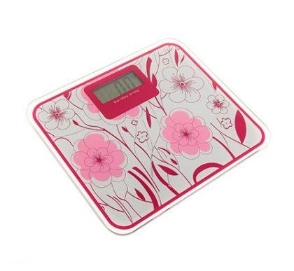 """Напольные электронные весы """"Розовые цветы"""" до 180 кг"""