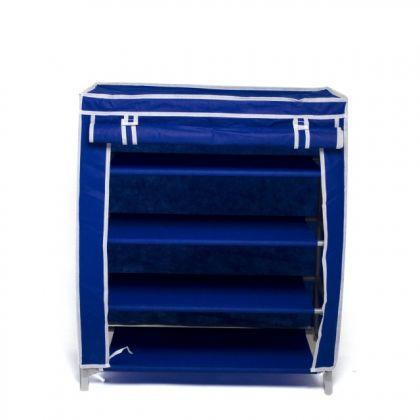 Тканевый шкаф для обуви Маджор, синий
