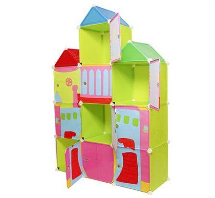 Детский модульный шкаф Домик 1