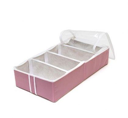 """Органайзер для обуви на 4 ячейки """"Capri"""", розовый, 51 х 25 х 12 см"""