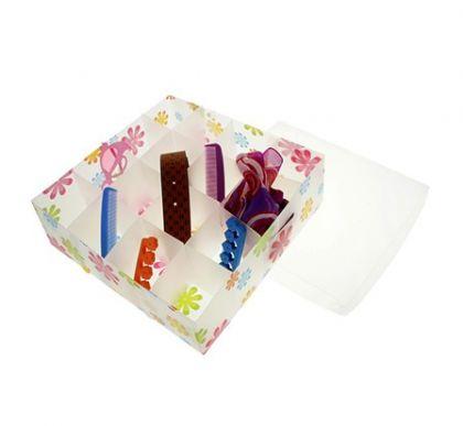 Коробка для хранения белья, 16 ячеек цветочки