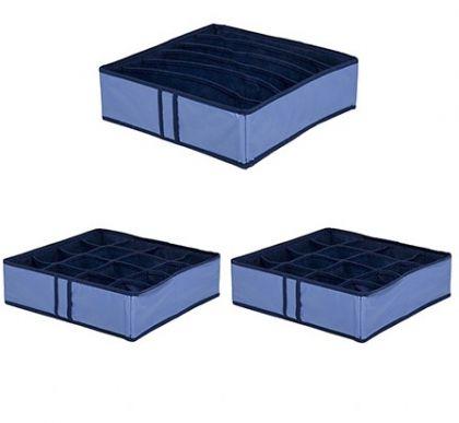 Комплект из 3х органайзеров на 38 боксов Blue sky