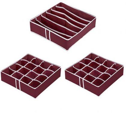 Комплект из 3х органайзеров на 38 боксов Red Rose