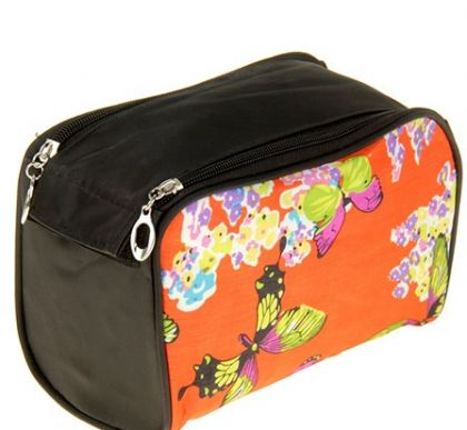 Органайзер для сумки Бабочки, чёрно-оранжевый