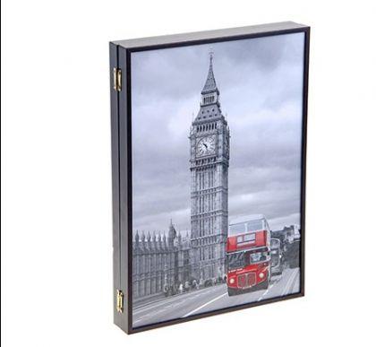 """Настенная ключница """"Красный автобус"""", 29 х 5 х 41 см"""