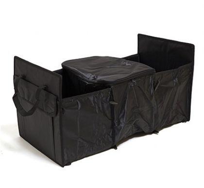 Органайзер двухсекционный для хранения вещей, черный