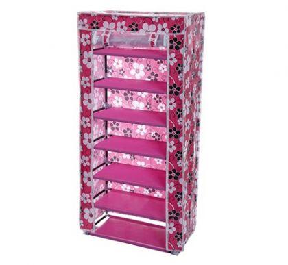 Тканевый шкаф для обуви Порту, цветочки