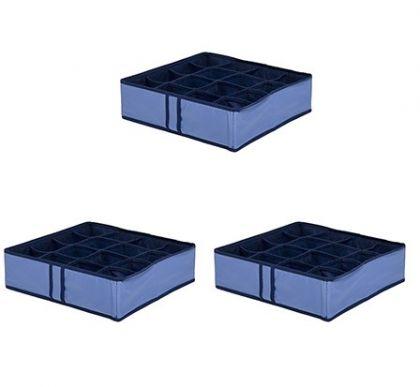 Комплект из 3х органайзеров на 48 боксов для мелочей Blu sky