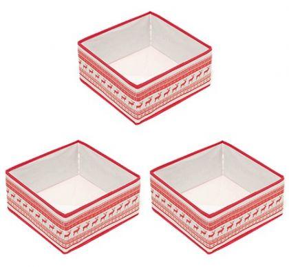 Комплект из 3х Квадратных коробок Scandinavia
