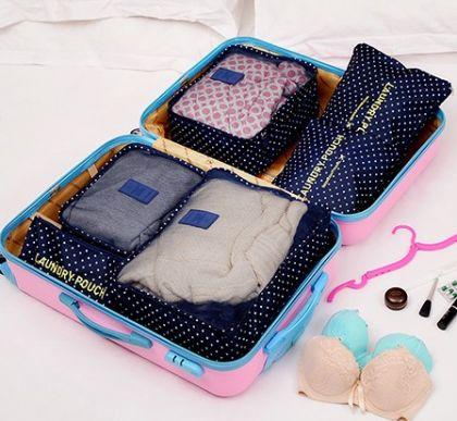 6 органайзеров для багажа Синий