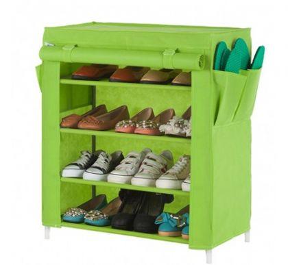 Тканевый шкаф для обуви Маджор, зеленый
