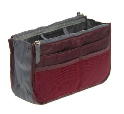 Органайзер для сумки бордовый Chelsy большой