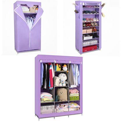 Комплект из 3х шкафов Онтарио, Элис и Кармэн, фиолетовый