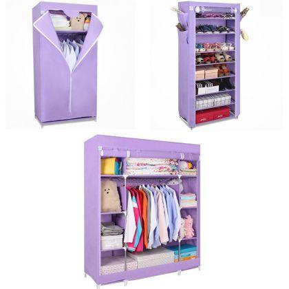 Комплект из 3х шкафов Маджорити, Элис и Кармэн, фиолетовый