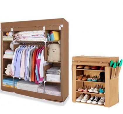 Комплект шкафов, коричневый