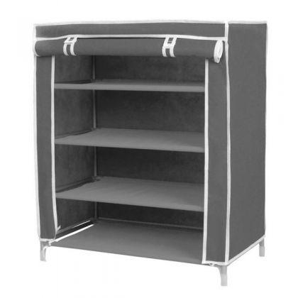 Тканевый шкаф для обуви Маджор, серый
