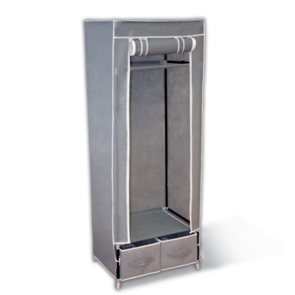 Тканевый шкаф Рино, серый